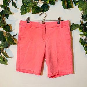 J.Crew Bermuda Hot Pink shorts